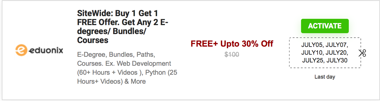 Code your future with Programming skills. Courses starting at $11.99 only!